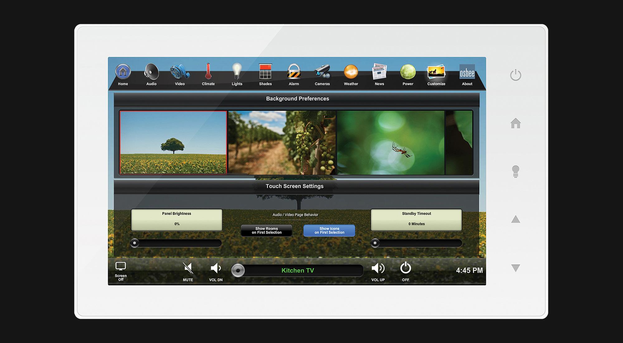 touchscreen, customize screen