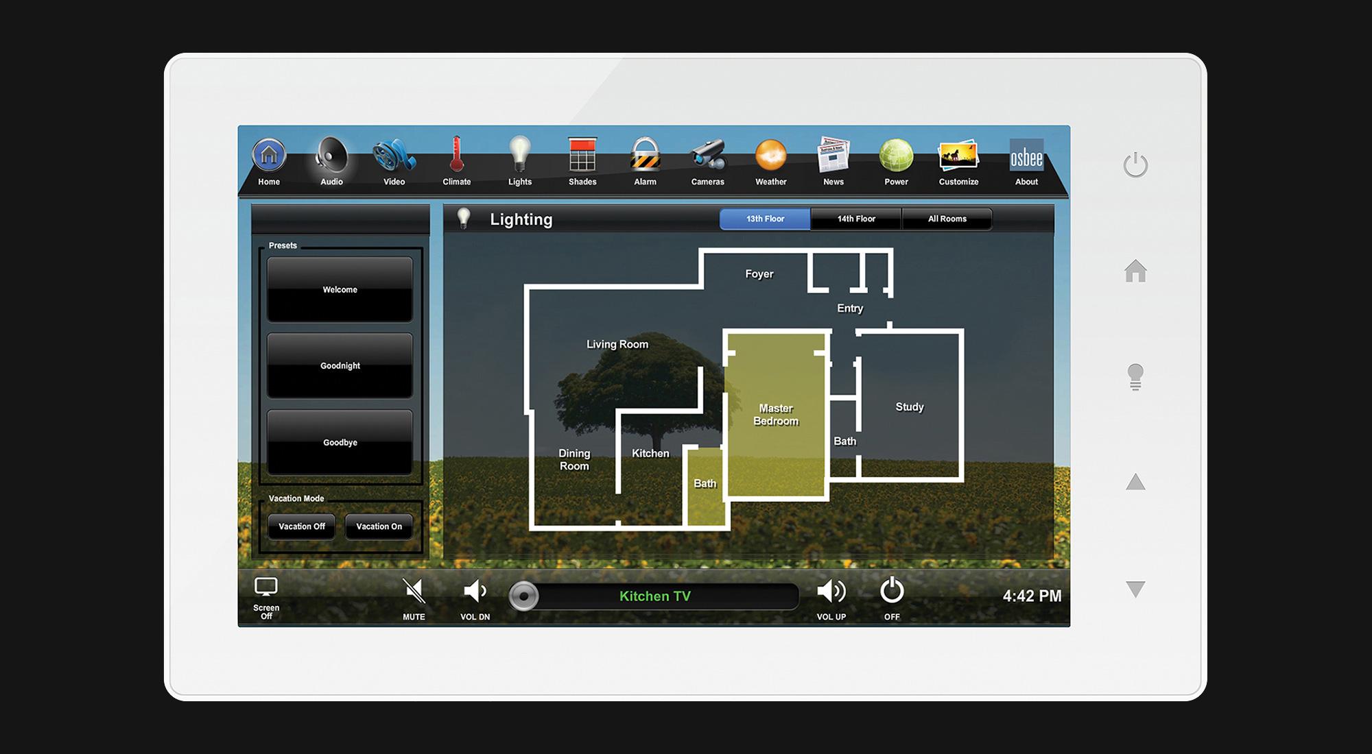touchscreen, lighting screen