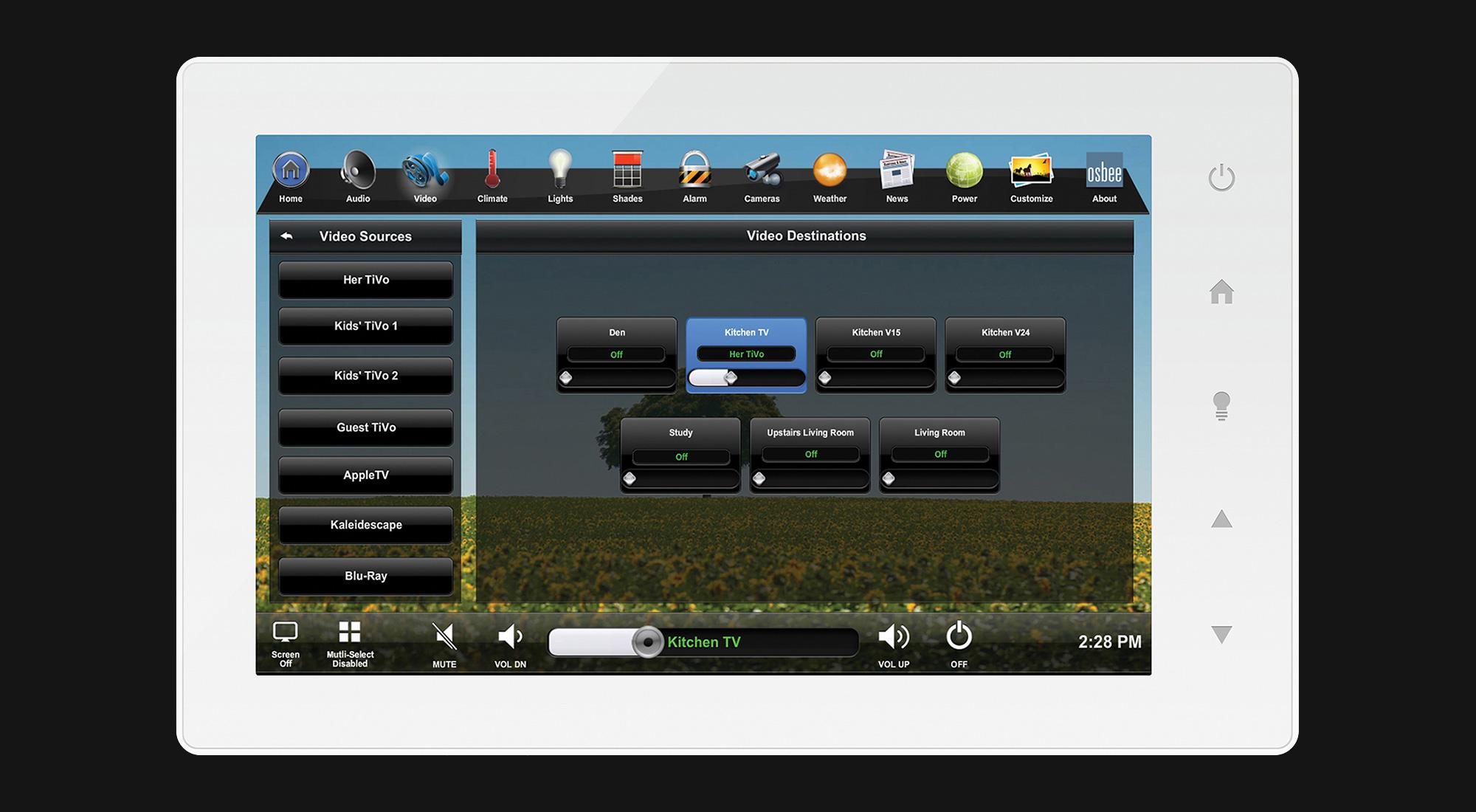 touchscreen, video screen