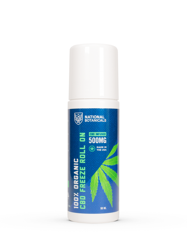 CBD Freeze Roll On 500MG CBD Infused from National Botanicals