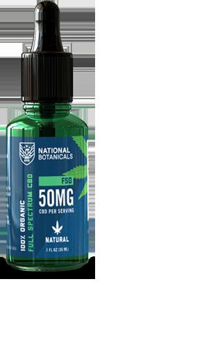 Full Spectrum CBD Oil 50MG Natural Flavor from National Botanicals
