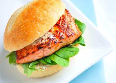 Grilled Salmon-Burger