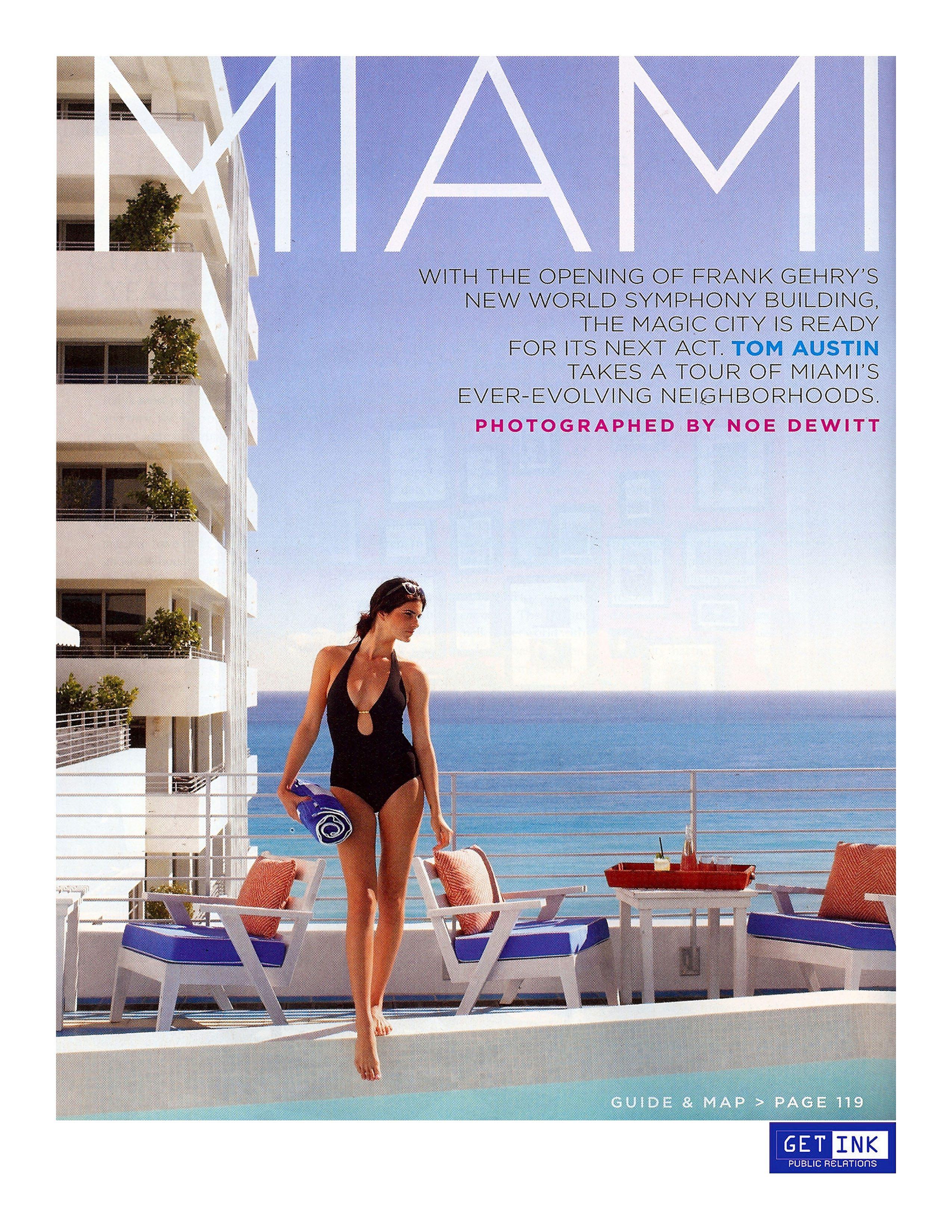Soho Beach House Miami Beach in Travel + Leisure - Get Ink PR