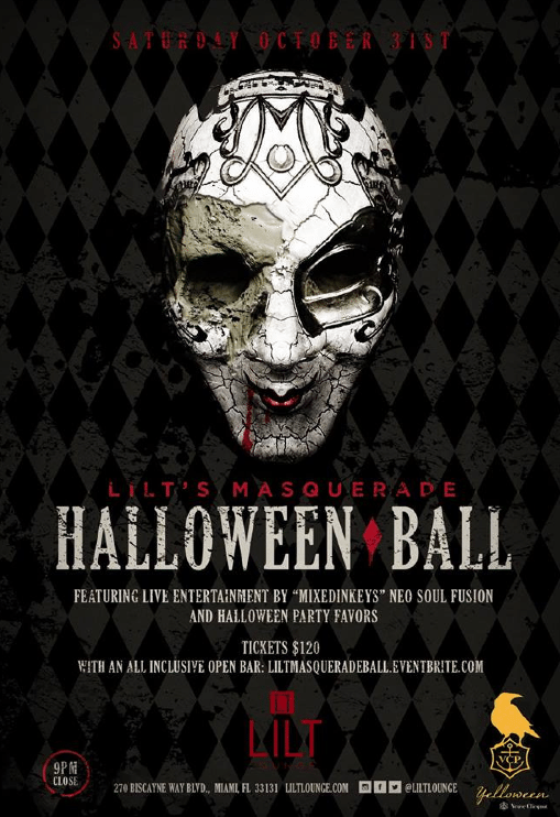 Halloween Lilt Lounge Miami - Get Ink PR