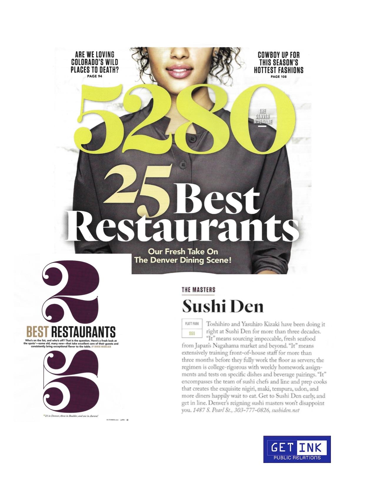 Sushi Den Denver in 5280 - Get Ink Pr
