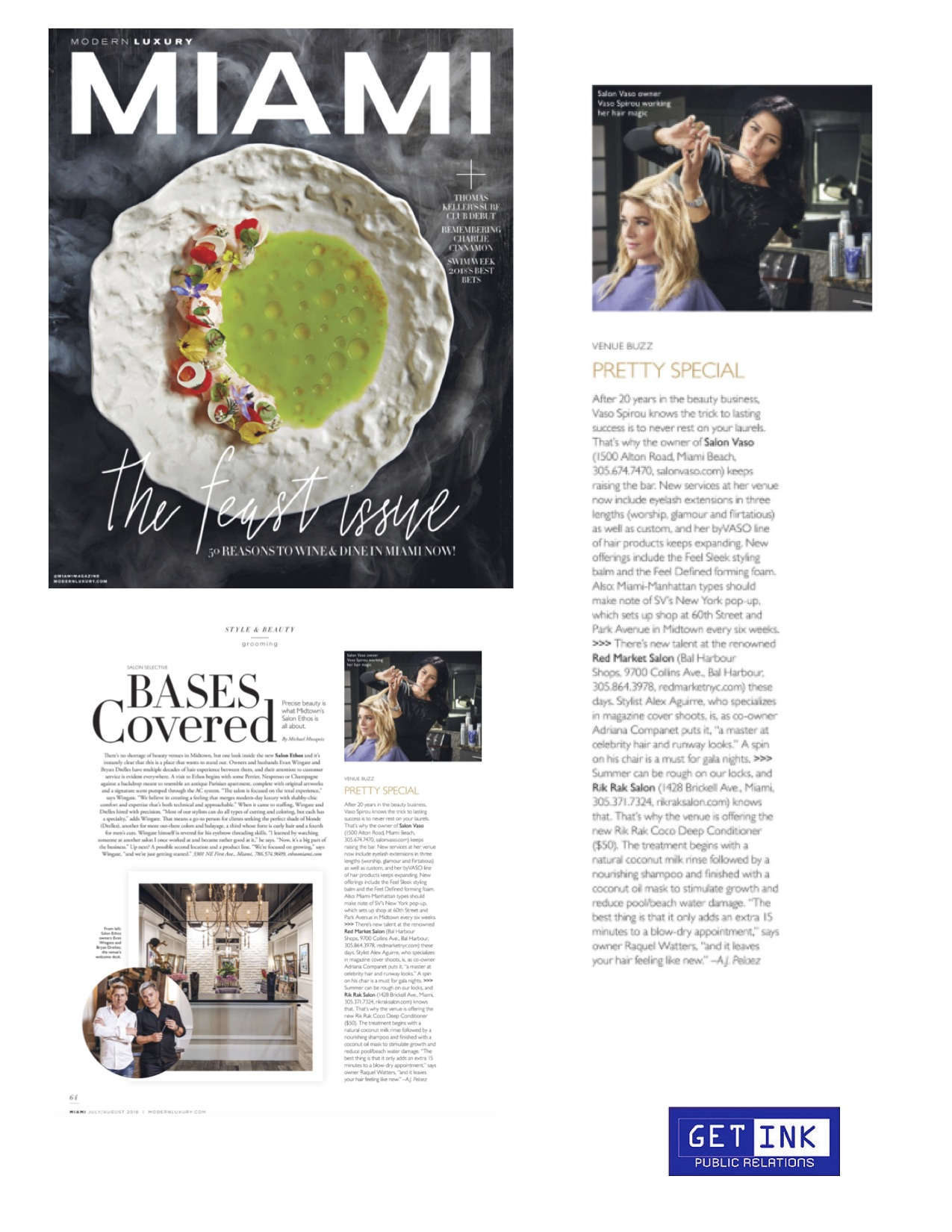 Salon Vaso Miami Magazine July - Get Ink Pr