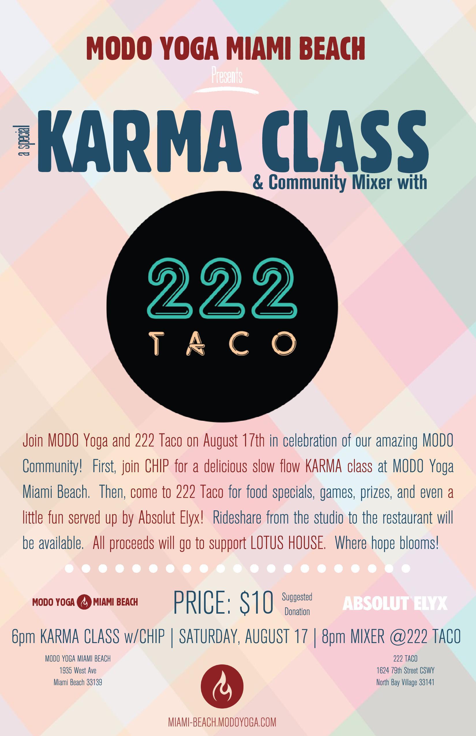 Modo Yoga Miami Karma Class - Get Ink PR