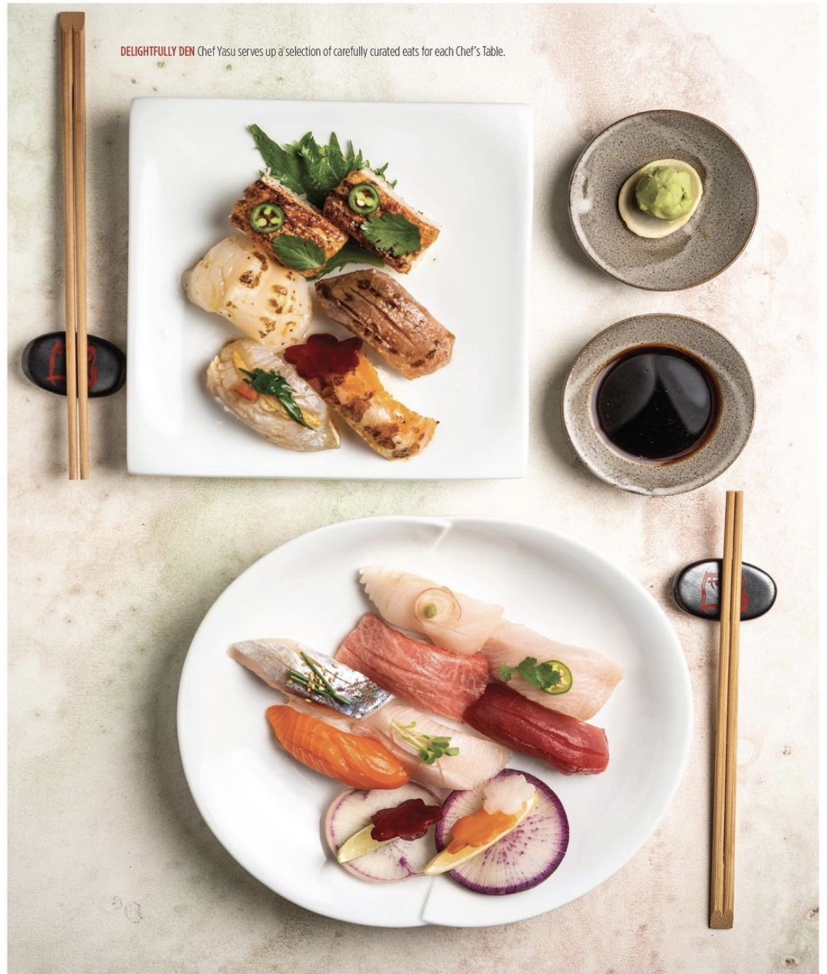 Sushi Den Chef's Table in Denver Life Magazine