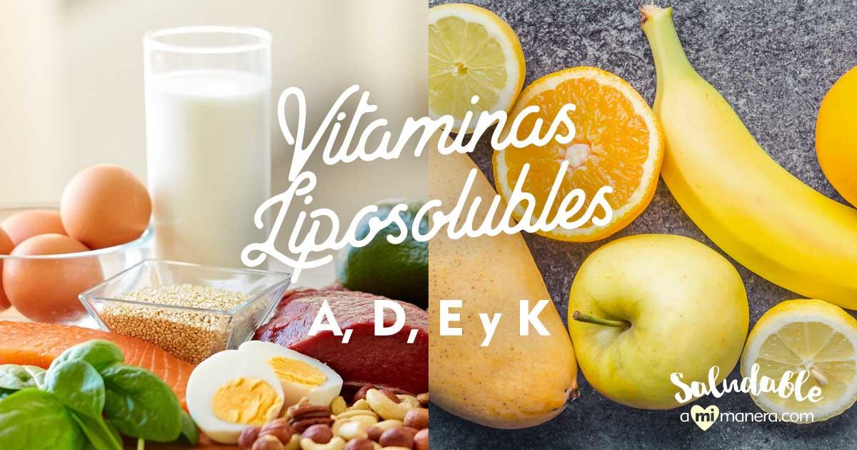 Vitaminas Liposolubles: A, D, E Y K, ¿cuál Es Su Función Y Beneficios?