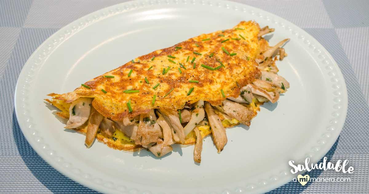 Omelette De Setas Y Perejil Para Chuparse Los Dedos