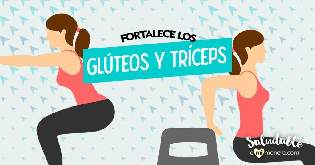 Fortalece tus glúteos y tríceps en casa con estos 2 ejercicios