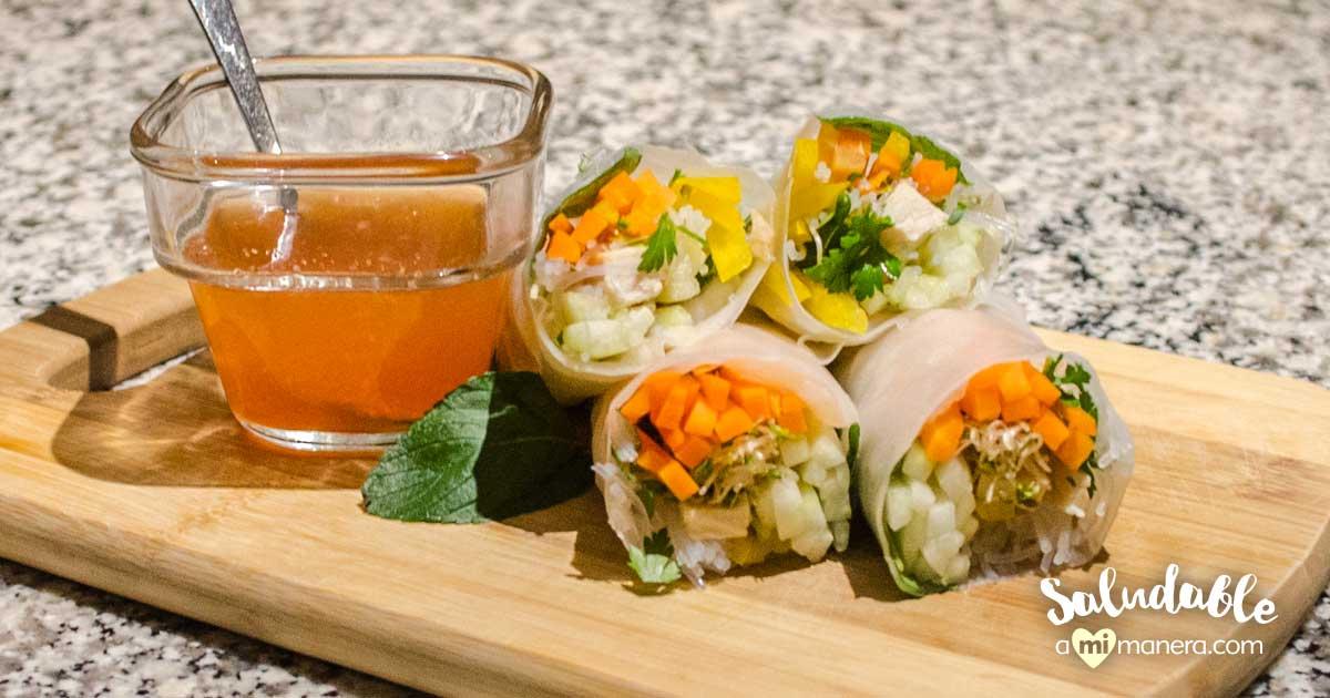 Rollitos De Verano Con Salsa De Chile Dulce, Aprende A Prepararlos