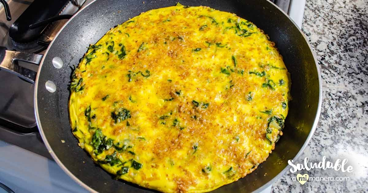 Tortilla De Acelgas, Yogurt Griego Y Parmesano