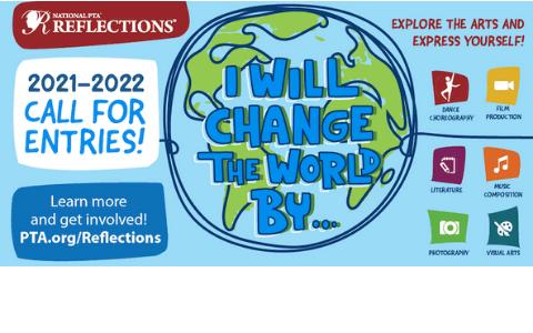 2021-2022 Reflections Arts Program Logo