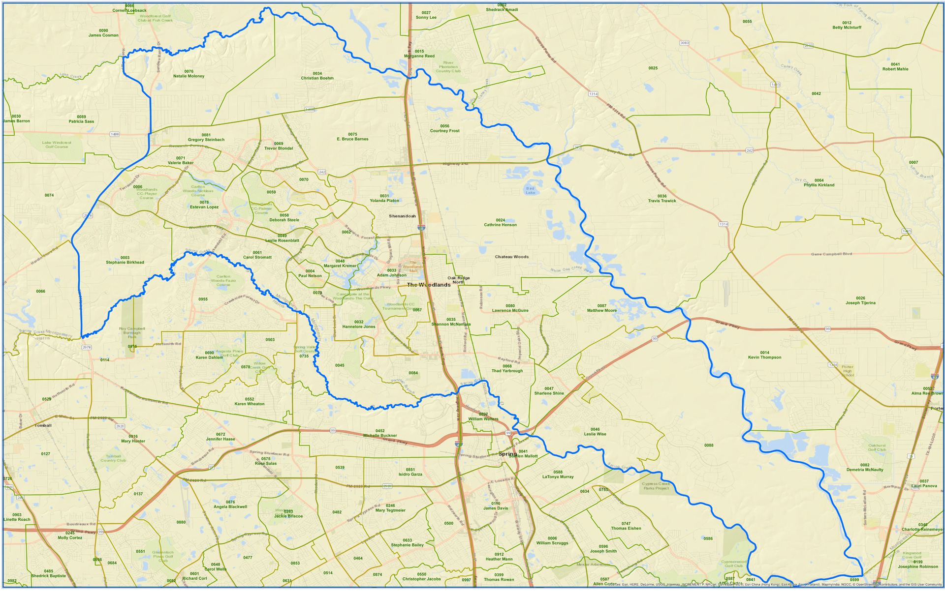 Map of Texas House District 15