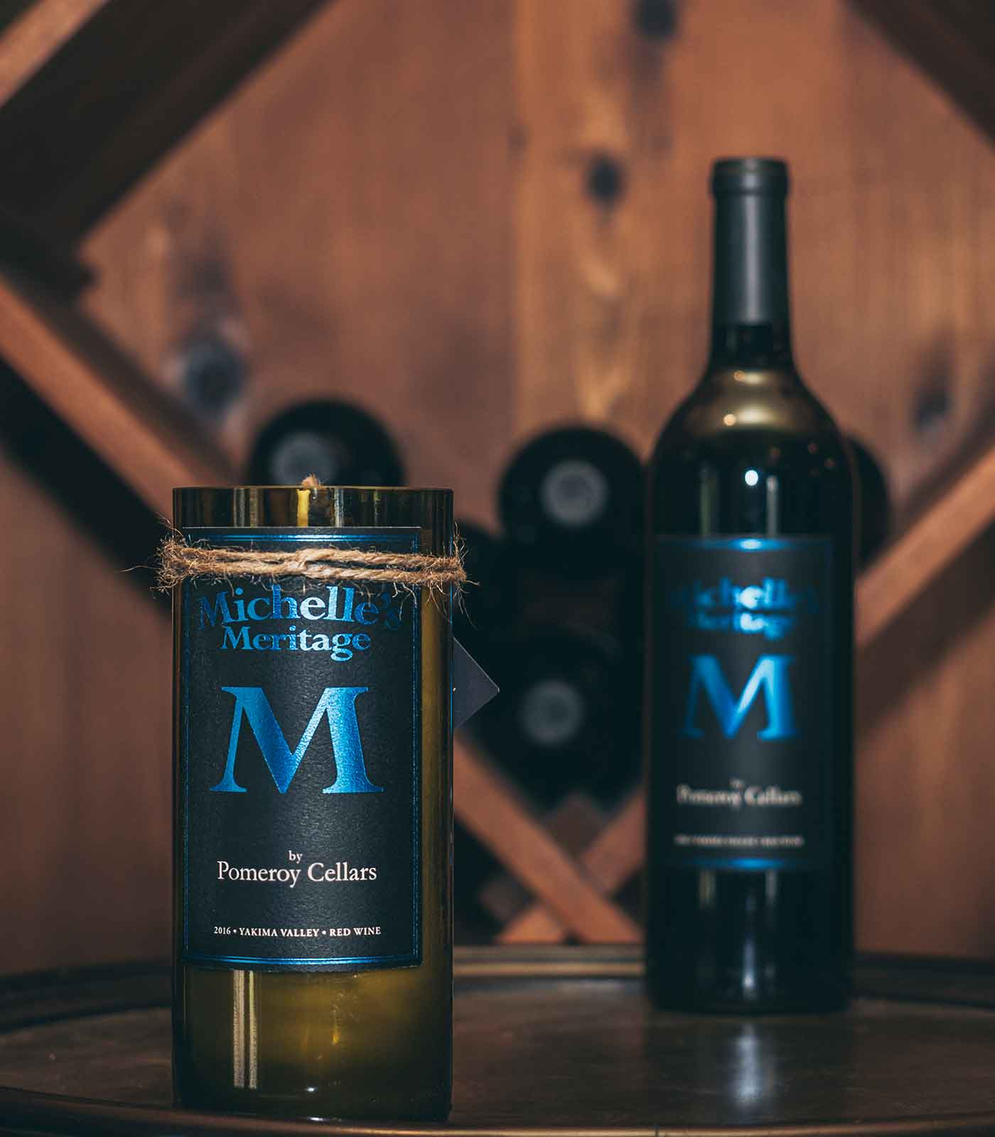 Landscape of Luxurious Wine Bottle and Packaging for Corporate Gifts at Pomeroy Cellars