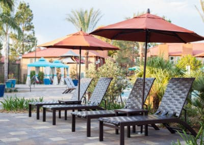 Poolside Recliners at Corona Pointe Resort