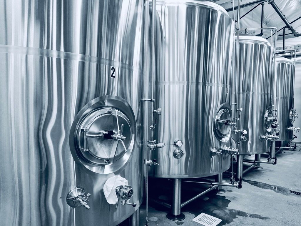 Surreal Brewing Company Beer Silos