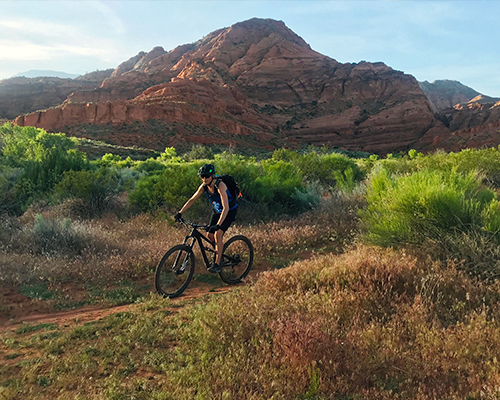 Surreal Brewing Tribe Member Emilee on a Bike Ride