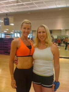 Lots of cardio Group-Ex classes; Me on the right in 2010