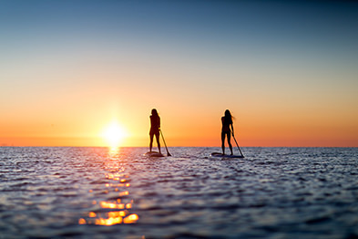 Paddleboarders on rental paddle boards in Marathon Florida Keys