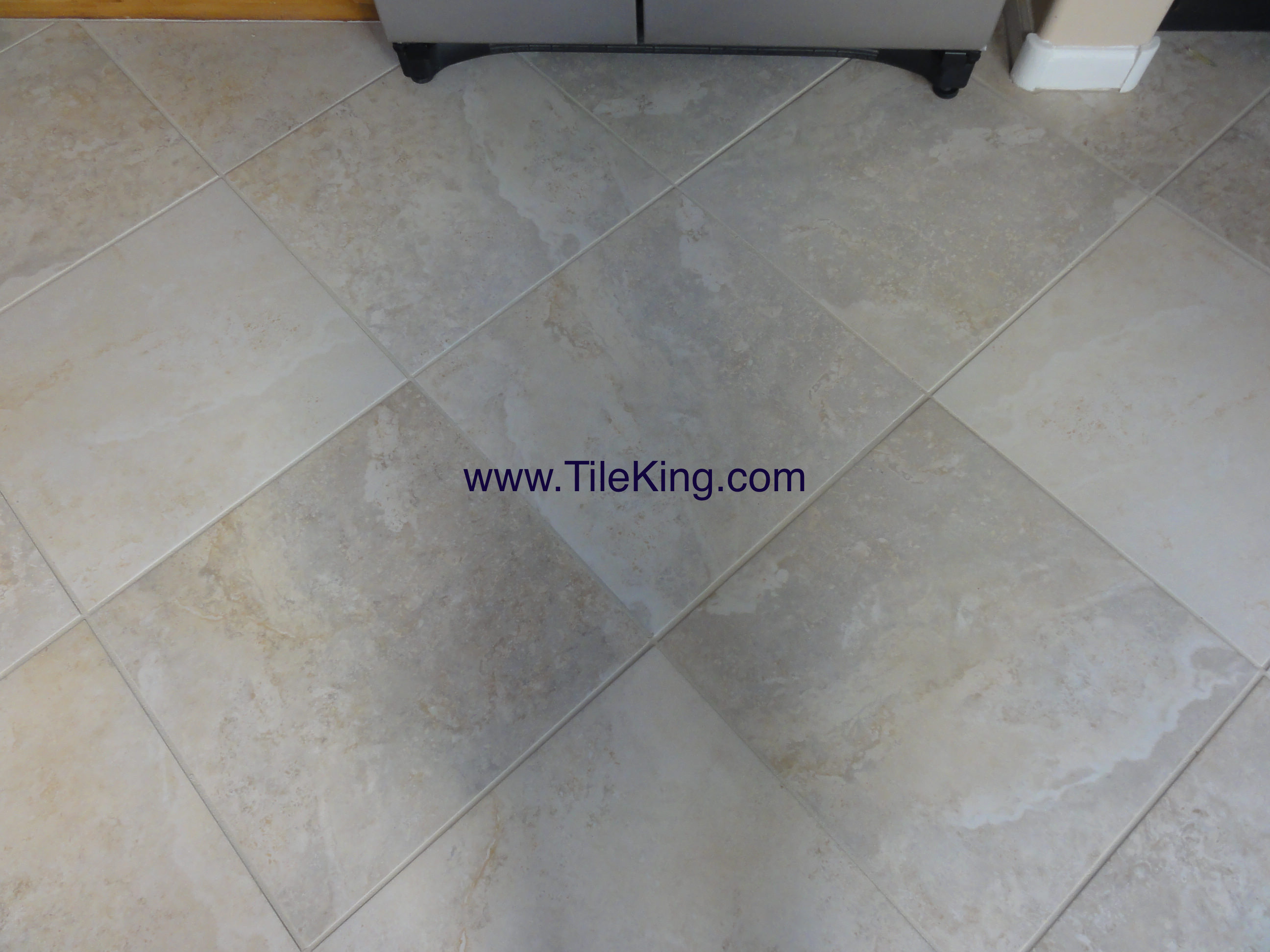 travertine tile after cleaning and sealing