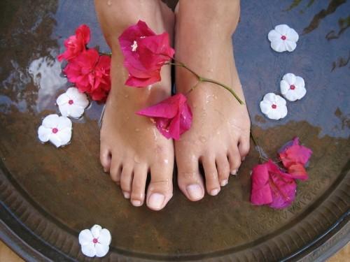 relaxing foot soak
