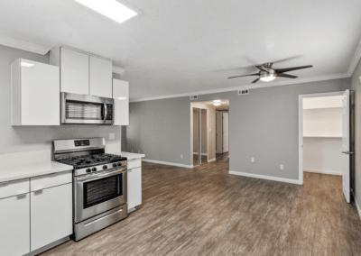 Empty kitchen, pantry, and storage