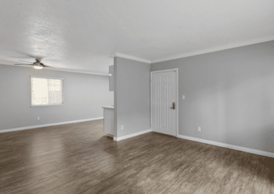 empty apartment home with wood-style floors