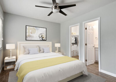 Solara Apartments Furnished Master Bedroom