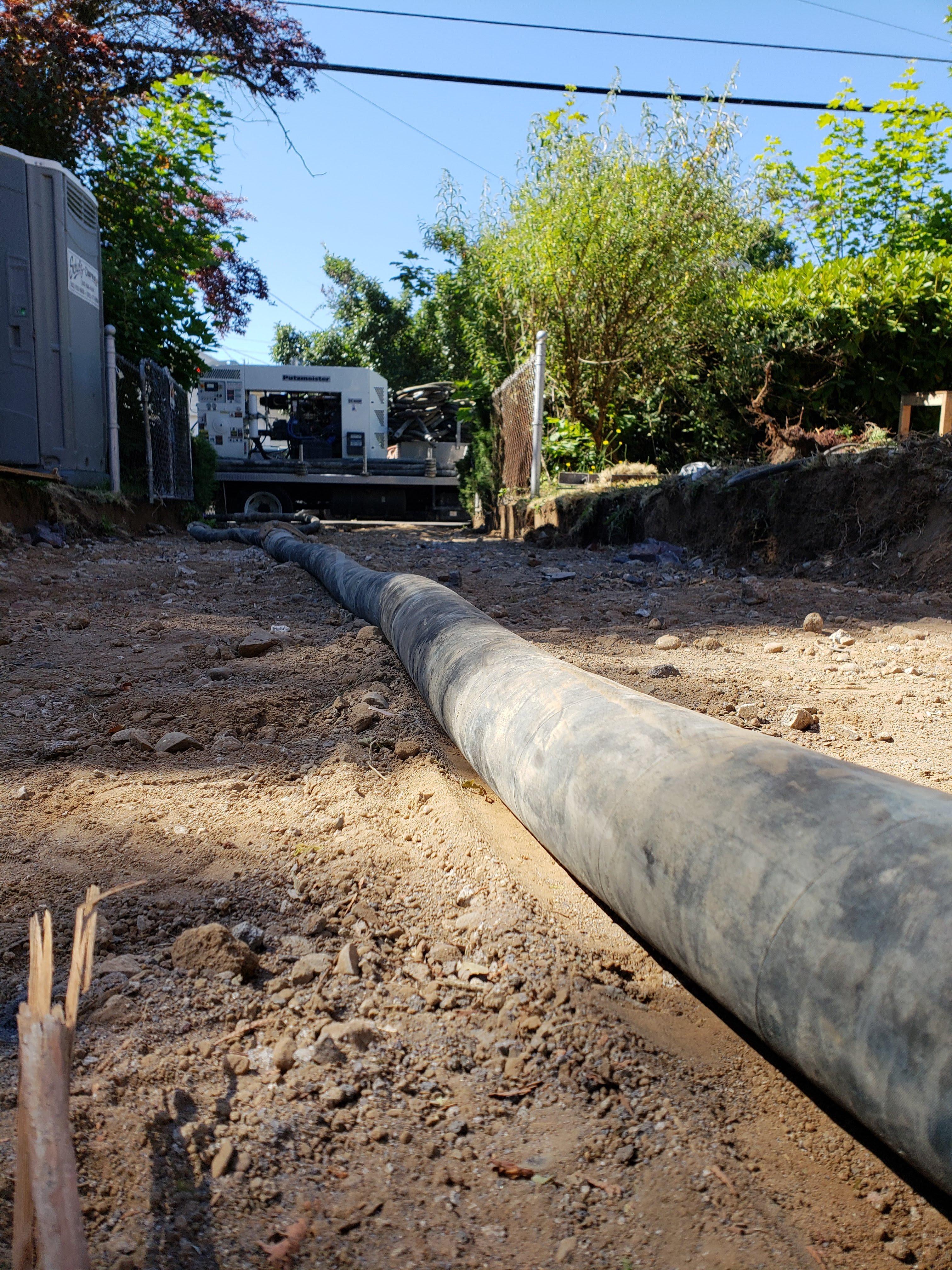 Using a Concrete Line Pump