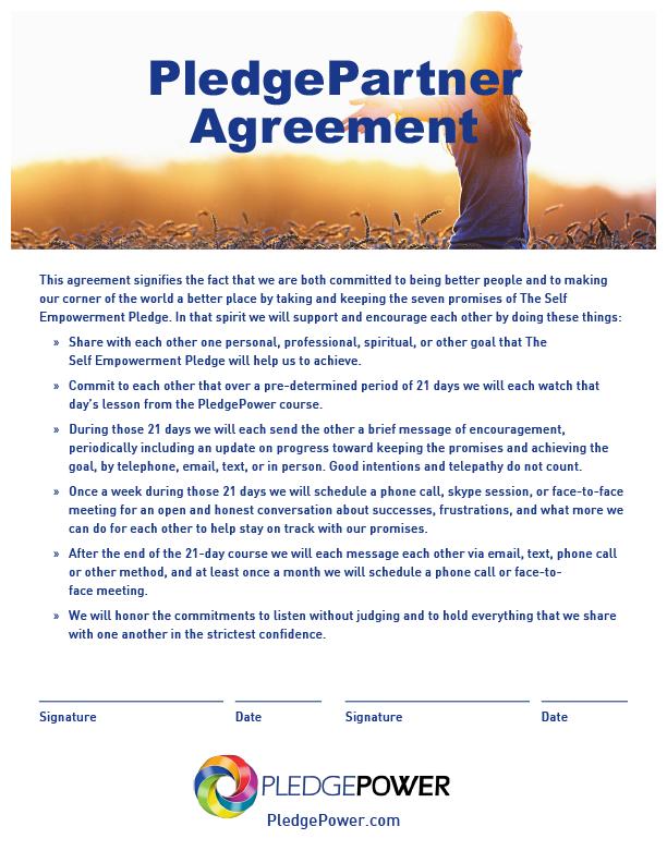 Pledge Partner Agreement