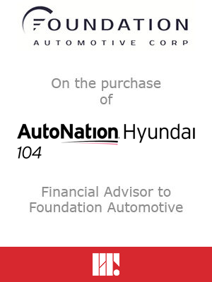 Foundation on the purchase of AutoNation