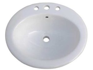 standard oval bathroom topmount sink