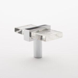 Adjustable glass knob