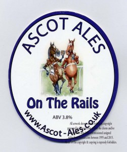 beer bottle label and beermat for ascot ales