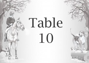 table cards & invitations for Hunt Ball