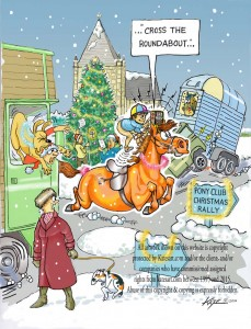 sat-nav image Pony Club christmas card