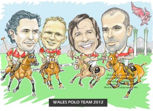 caricature of team players at national championships
