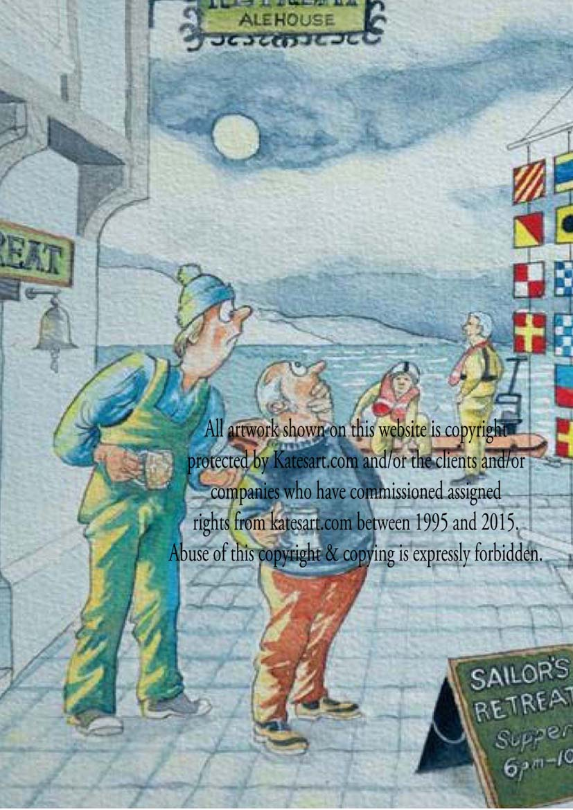marine cartoon dayskipper RNLI exhibition flags