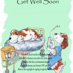 canine get well card from katesart range