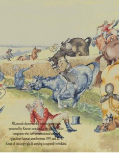 antics hunting field fallen riders