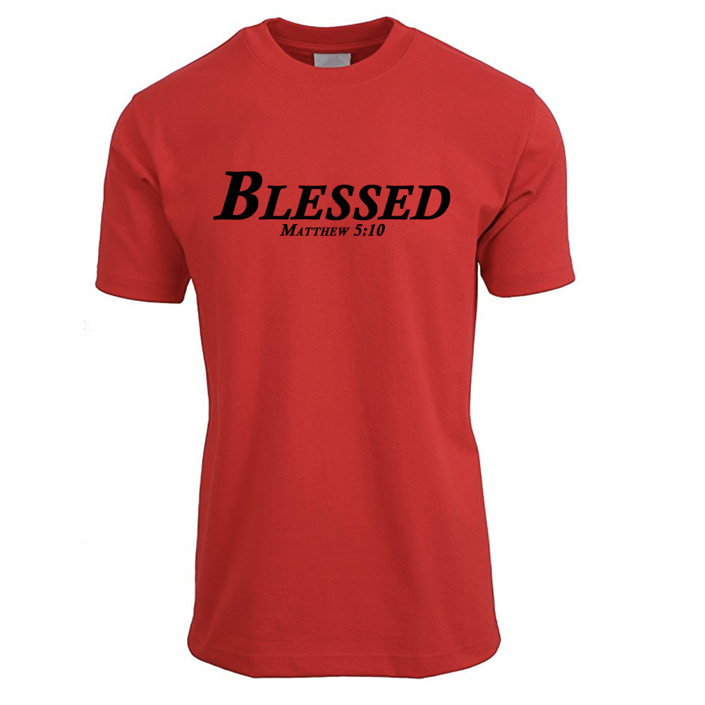 Red & Black Blessed T Shirt