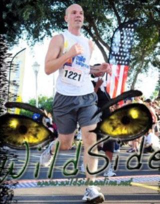 Client Daniel Bonnett running marathon race