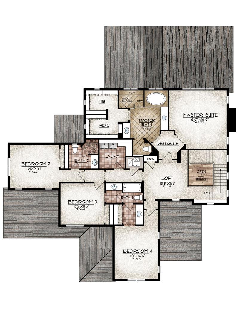hayden model upper level floor plan