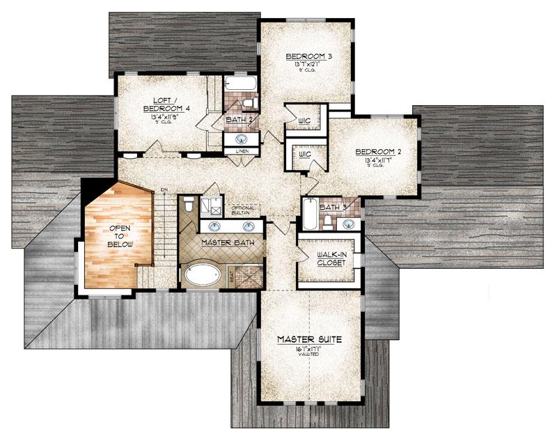 leadville model upper level floor plan