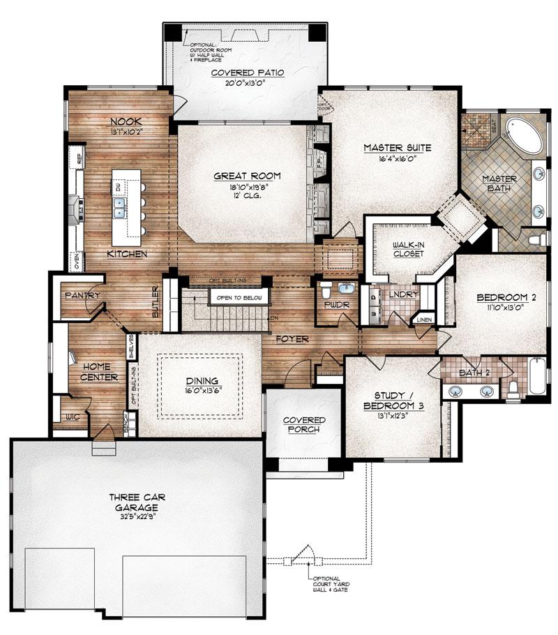 manitou model floor plan by sopris homes