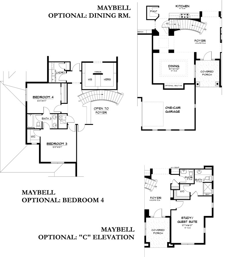 maybell model floor plan options