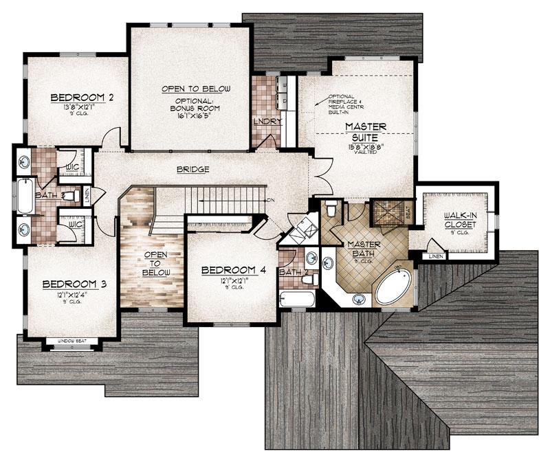 sterling model floor plan upper level