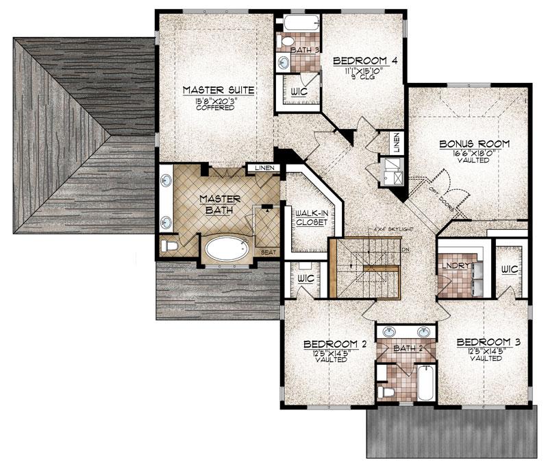 westcliffe model upper level floor plan